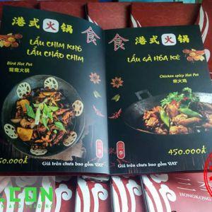 In ấn menu nhà hàng khách sạn