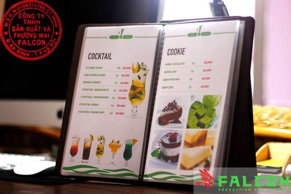 Dịch vụ in menu nhà hàng khách sạn